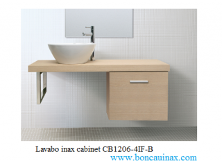 Lavabo inax cabinet CB1206-4IF-B